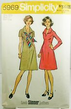 Simplicity 5969 Sewing Pattern Womens Plus Size Slim Front Seam Shirt Dress 18.5