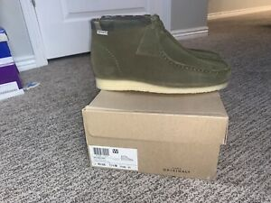 Carhartt WIP x Clarks Wallabee Boot Size 11.5 Olive Camouflage Green Mens New
