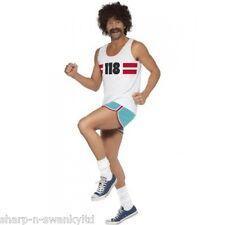 Mens 118 118 London Marathon Runner Stag Do Fancy Dress Costume Outfit Medium