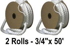 """(2) rolls Imperial Ga0175 3/4"""" x 50' ft Wood Stove Door Fiberglass Gasket Rope"""