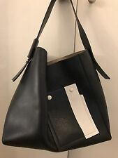 MAX MARA SPORTMAX Gorgeous Black / White  Leather Shoulder Bag w/ cosmetic bag