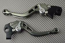 Short brake & clutch levers pair CNC titanium Yamaha Raptor 700 2010- 2016