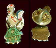 OLYMPIQUE MARSEILLE CHAMPION 1991 Rare PIN !!!