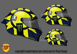 Valentino Rossi Helmet Sticker 2018 MotoGP Yamaha - Scuderia GP