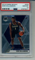 2019-20 MOSAIC PSA 10 GEM MINT GRADED ROOKIE CARD #209 ZION WILLIAMSON PELICANS
