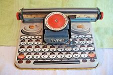 Tin Litho Vintage 1940's WORKING Unique Dependable Typewriter Kids Toy RARE