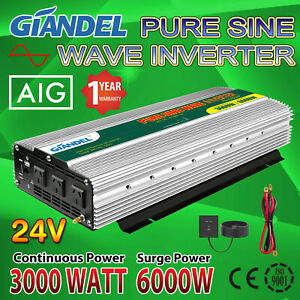 Large Shell Pure Sine Wave Power Inverter 3000W/6000W 24V/240V USA Transistors