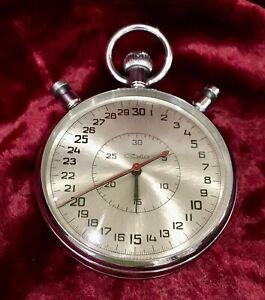 Stopwatch Mechanical SLAVA SDS-1-2-000.(5498) USSR.Three-button.20 stones.1979.
