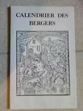 CALENDRIER DES BERGERS GRAVURE