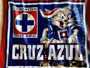 2 La Máquina CRUZ AZUL Window Car FlagBandera Para Ventana De Auto Soccer Futbol
