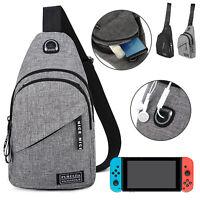 Sling Mens Chest Sport Travel Backpack Crossbody Handbag Shoulder for Nintendo