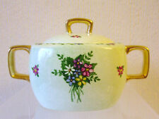 Midwinter sugar bowl, Stylecraft shape, signed Madge Thomson, green floral