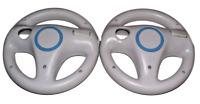 2 x Genuine Nintendo Wii Wii U White Steering Wheel Mario Kart Racing
