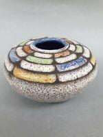Künstler Keramik Vase Fat Lava  mid century signiert Klük? 50er germany?