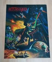 Vintage Star Wars Return of the Jedi 1983 2 Sided Poster Coca-Cola C
