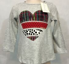 New/Tags 6-9 Month First Impressions Baby Girl's Heart 100% Cotton LS T-Shirt