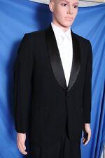 Vtg '60s Lord West shawl collar single button black 2 pc. tuxedo Mod 36 37X29
