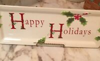St Nicholas Square Holly Jolly Christmas Platter 16X5