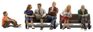 Woodland Scenics HO Scale Scenic Accents Figures/People Set People Sitting (6)