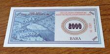 CROATIA  2000 Bara  2012  PNL  BARANJA REGION - PRIVATE BANKNOTE