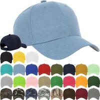 Plain BASEBALL CAP Basic Adjustable Solid Mesh Trucker Summer Sport Hunting Hat