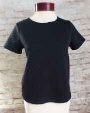 Lily White Black Top Quilted Diamond Pattern Women's Size Small