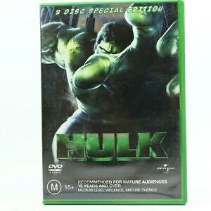Hulk (DVD, 2003, 2-Disc Set) Eric Bana Good Condition Free Tracked Post