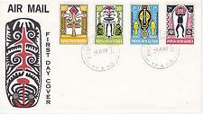 PAPUA NEW GUINEA FIRST DAY COVER 1966 MOLALA HARAI, ETC. SCOTT #221-224 CULTURAL