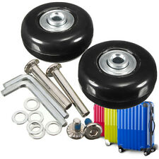 2 Sets Luggage Suitcase Replacement Wheels OD 45 ID 6 W 18 Axles 30 Repair Tools