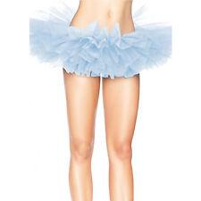 Leg Avenue Organza Tutu Costume Ballet Rave Petticoat Mini Skirt Light Blue