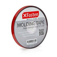 XFasten Molding Tape, Gray, 1/2-Inch x 30-Foot