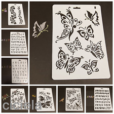 Kids Children Plastic Picture Drawing Template Stencils Painting DIY Craft NEW