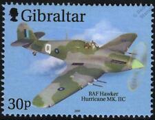 RAF Hawker Hurricane Mk. IIC aeronave avión sello Gibraltar (2000)