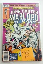 John Carter Warlord of Mars #2,3,4 Set FN/VF to VF Bag Board Combine