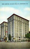 Hotel Hamilton 14th and K Streets Washington D.C. Vintage Postcard BB1