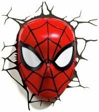 NEW Marvel 3D LED Light: Spiderman Mask Avengers Superhero Wall Light