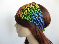 Multi-Colour Peace Sign Design Bandanna Head Wear Bands Scarf Neck Bandana