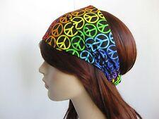 Multicolor signo de la paz Diseño Pañuelo desgaste del cabezal Bandas Bufanda Cuello Bandana