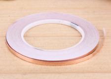 5 mm x 2 Meter selbstklebend Kupferband Kupferfolie EMI 0,5 cm Schnecken Abwehr
