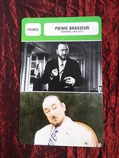 PIERRE BRASSEUR - MOVIE STAR - FILM TRADE CARD - FRENCH - #2