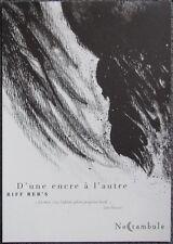 riff - carnet de croquis hors commerce - soleil 2012
