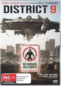District 9 (DVD, 2009) Region 4 Australia Brand New Sealed Free Shipping