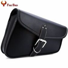 Right Motorcycle PU Leather Saddlebag Saddle Tool Pouch Side Bag Harley Cruiser
