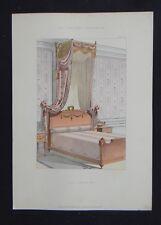 LA TENTURE FRANÇAISE 1905 - Lit Louis XVI - décoration tapisserie 87