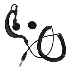 3.5mm Listen Only Earpiece+3.5mm mono jack for Speaker Mic For 2-way radio Black