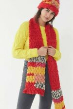 NEW!! Urban Outfitters Handmade Chunky Knit Yarn Scarf and Hat Set! Multicolor!