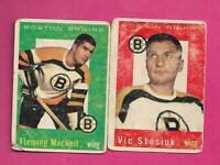 1959-60 TOPPS BRUINS FLEMING MACKELL + VIC STASIUK  FAIR CARD (INV# C5879)