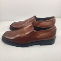 Venturini For Men Size 12 M Brown Leather  Slip On Dress Shoes Made n Italy