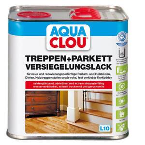 Aqua Clou Treppen- und Parkett Versiegelungslack  2,5 Ltr.