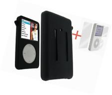 Black Silicone Skin Cover Case For iPod Video 30GB Classic 80GB/120GB/160GB+Scre